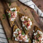 Buttered Radish and Ricotta Toast